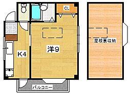 中尾マンション[2階]の間取り