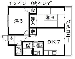 澤村マンション[201号室号室]の間取り