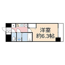 プレサンス THE TENNOJI 逢阪トゥルー 9階1Kの間取り