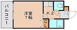 ミモリハイム[3階]の間取り