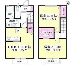 [テラスハウス] 神奈川県藤沢市高谷 の賃貸【/】の間取り