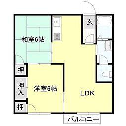 セフィラ青柳[2階]の間取り