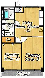 第2ニュー和幸ビル[4階]の間取り