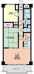 神奈川県横浜市都筑区牛久保西2丁目の賃貸マンションの間取り