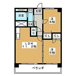 アーデルコート岩崎台[1階]の間取り