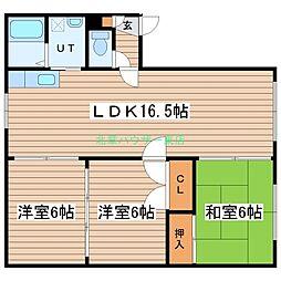 ハウスユーコー[2階]の間取り