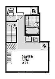 東京都品川区南大井5丁目の賃貸アパートの間取り