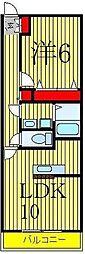 千葉県柏市しいの木台4丁目の賃貸マンションの間取り