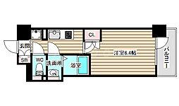 パークナードフィット新梅田リント 10階1Kの間取り
