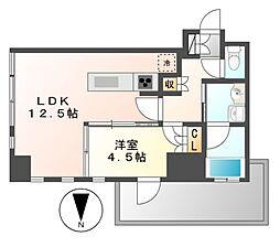 プラウドタワー覚王山[11階]の間取り