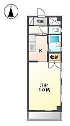 レジデンス安藤Ⅱ[1階]の間取り