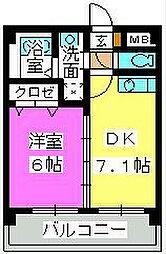 エクセル七隈[5階]の間取り