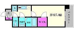 インザグレイス桜ノ宮[2階]の間取り