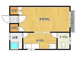 ユーロマンション[402号室]の間取り