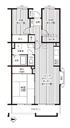 アルタイル平和台[3階]の間取り
