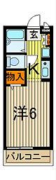 CLIO COURT21[2階]の間取り