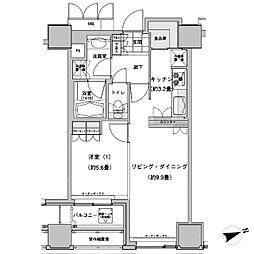 JR山手線 池袋駅 徒歩2分の賃貸マンション 19階1LDKの間取り