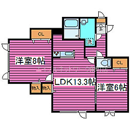 [タウンハウス] 北海道札幌市北区篠路七条6丁目 の賃貸【北海道 / 札幌市北区】の間取り