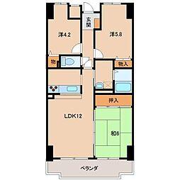 ライオンズマンション和歌山紀伊1308号[13階]の間取り