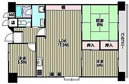 泉北原山台C団地[5階]の間取り