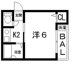 ランドハウス[301号室号室]の間取り