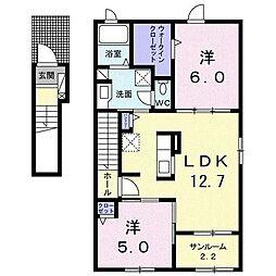 ファミーユII[2階]の間取り