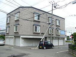北海道札幌市清田区北野二条3丁目の賃貸アパートの外観