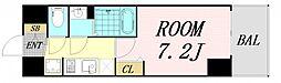 プレサンス OSAKA DOMECITY クロスティ 14階1Kの間取り