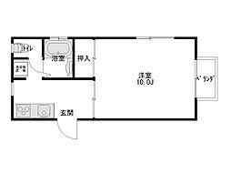 ダイセンアパートD[103号室]の間取り