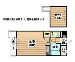 福岡県北九州市八幡西区千代ケ崎1丁目の賃貸マンションの間取り
