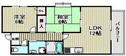 エミネンス北花田[4階]の間取り