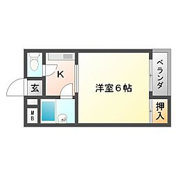 ハイツ富田[2階]の間取り