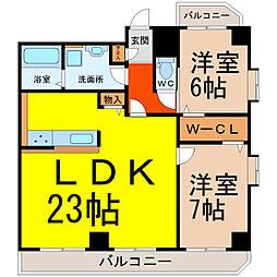 サンシティ畑江通[7階]の間取り