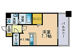 エンクレスト博多駅東2[12階]の間取り