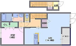 クレールコート2[2階]の間取り