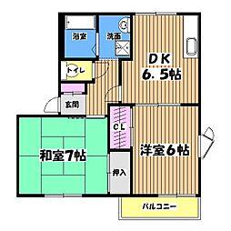 フレグランス156B[2階]の間取り