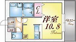 パレス東洋神戸6号館[2階]の間取り