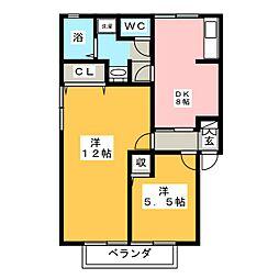 コートヴィレッジI[2階]の間取り