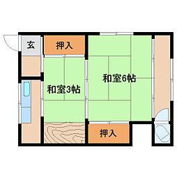 兵庫県尼崎市水堂町1丁目の賃貸アパートの間取り