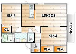 パークヴィレッジ A棟[2階]の間取り