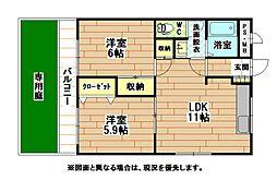 メゾン坂本[1階]の間取り