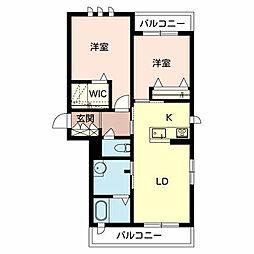 仮)シャーメゾン九保園[2階]の間取り