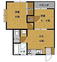 サングレイスI[2階]の間取り