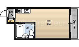 グランブルー都島[1階]の間取り
