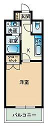 福岡県福岡市博多区祇園町の賃貸マンションの間取り
