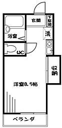 神奈川県相模原市緑区二本松2丁目の賃貸アパートの間取り