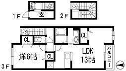 ラ サクセション宝塚[3階]の間取り