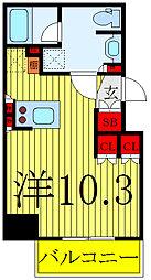 ルフォンプログレ南大塚 10階ワンルームの間取り