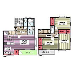 [テラスハウス] 神奈川県横浜市都筑区中川5 の賃貸【/】の間取り