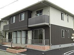 広島県福山市駅家町大字近田の賃貸アパートの外観